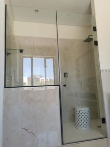 Black shower door