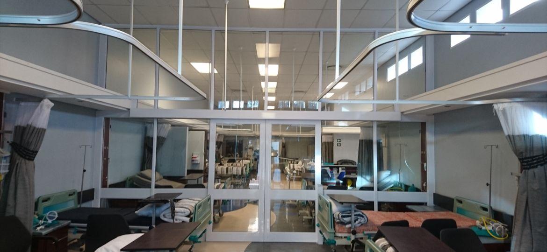 Automated hospital door